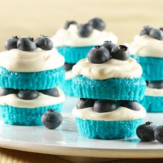 Blue Velvet Mini Shortcakes.