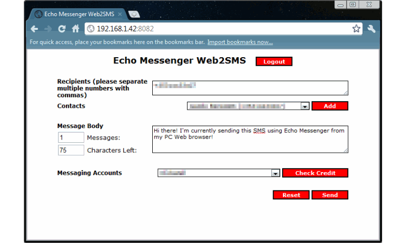 Echo Messenger - screenshot