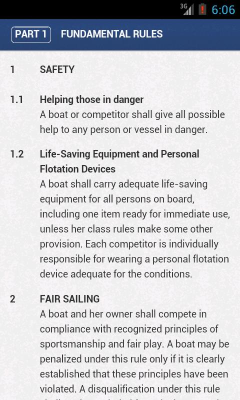 ISAF Racing Rules of Sailing - screenshot