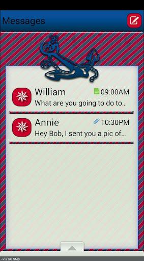 Anchors GO SMS THEM