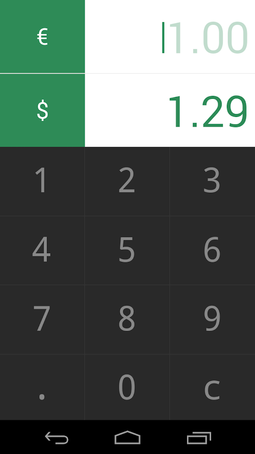 Currency Converter Monini- screenshot