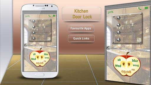 キッチンのドアロック