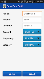 Cash Flow Droid- screenshot thumbnail