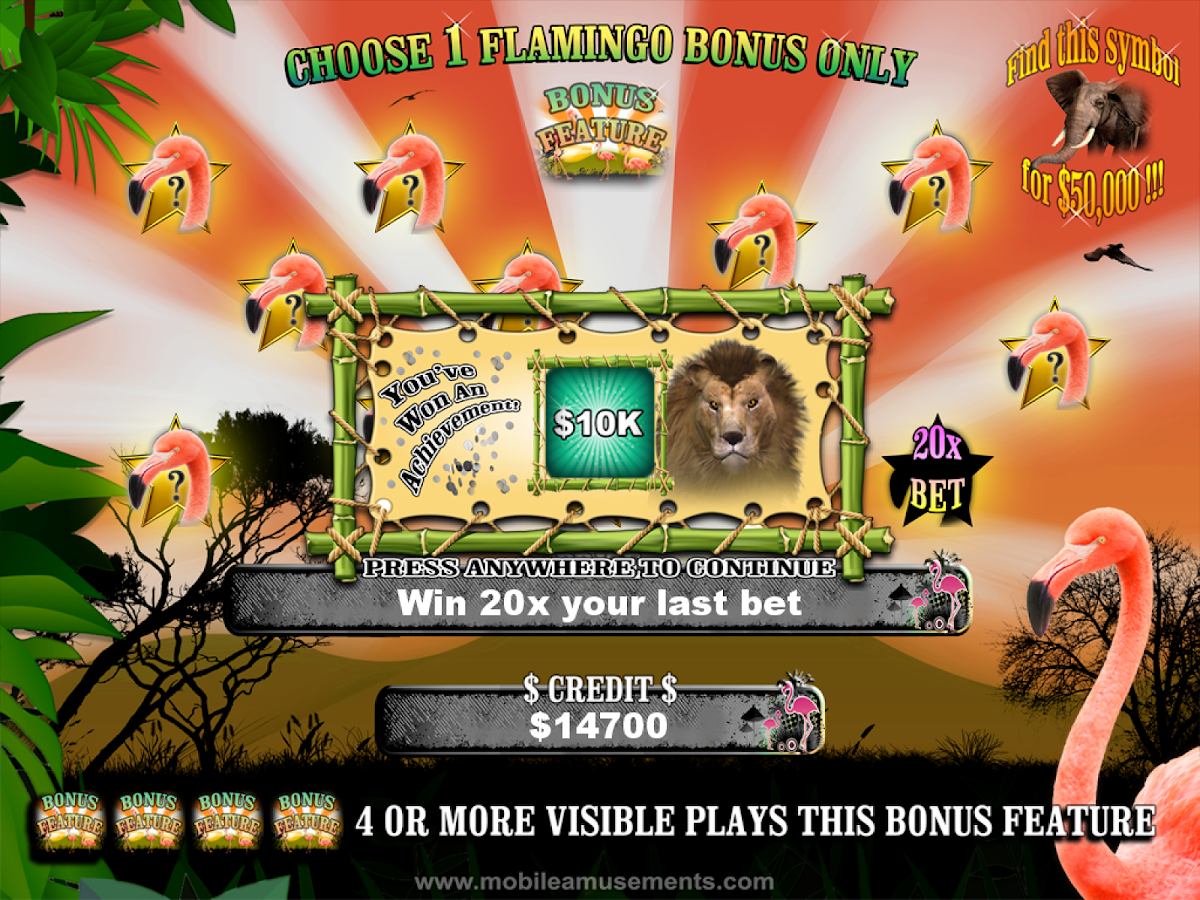 Flamingo Jungle Safari Slots $- screenshot