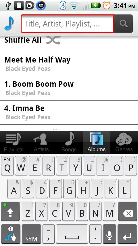 bTunes Music Player- screenshot