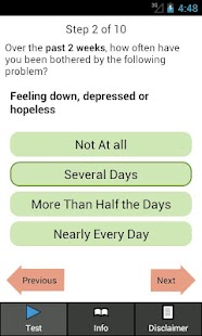 Depression Test- screenshot thumbnail