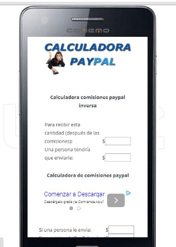 Calculadora Paypal Comisiones