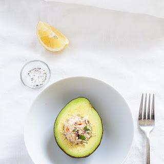 Stuffed Avocado with Skinny Tuna Salad.
