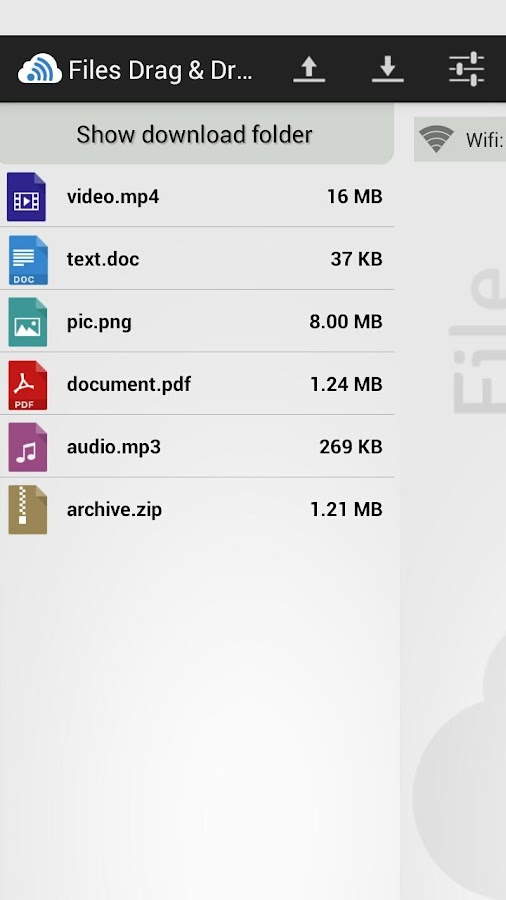Files Drag & Drop - screenshot