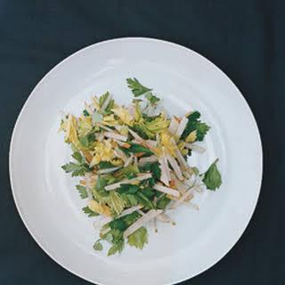 Parsley, Celery Leaf, and Jicama Salad.