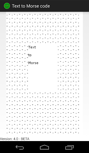 Text to Morse Code Beta
