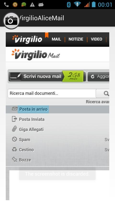 Virgilio Mail ,  Alice Mail- screenshot