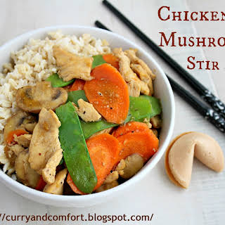 Chicken and Mushroom Stir Fry.