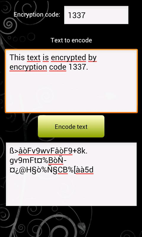 SMS encoder - screenshot