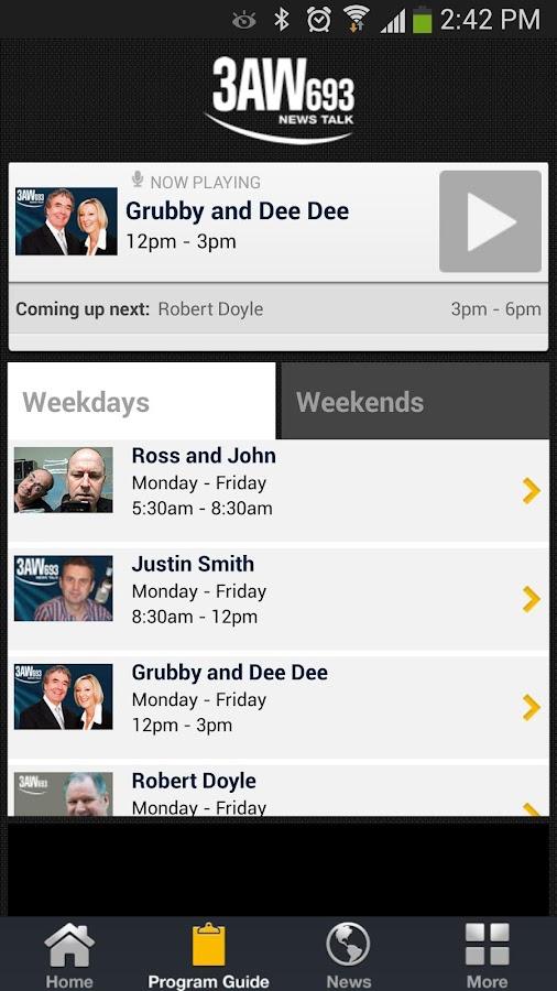 Radio 3AW- screenshot