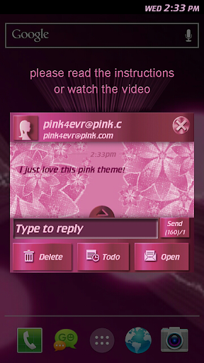 Pink Sparkle Flower Theme