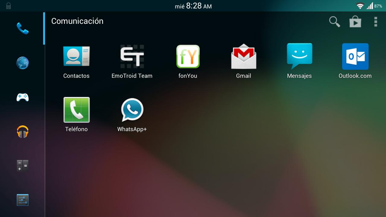 Gmail themes download - Theme Ics Jb Smart Launcher Screenshot