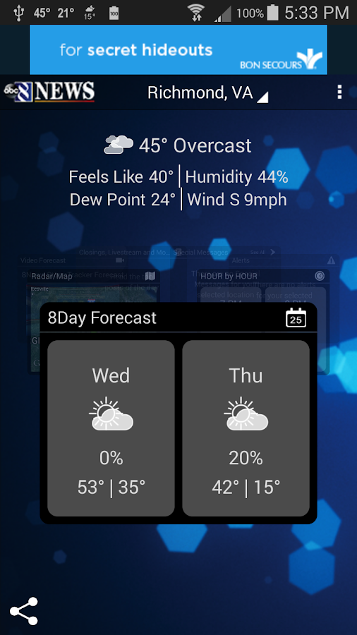 StormTracker - 8News weather - screenshot