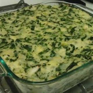 Potato Spinach Casserole.