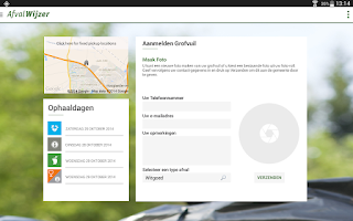 Screenshot of AfvalWijzer