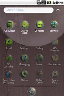 Crystal GO Launcher EX theme- screenshot thumbnail