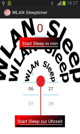 WLAN Sleeptimer