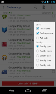 System app remover (ROOT) - screenshot thumbnail