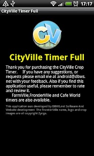 CItyVille Crop Timer Free- screenshot thumbnail