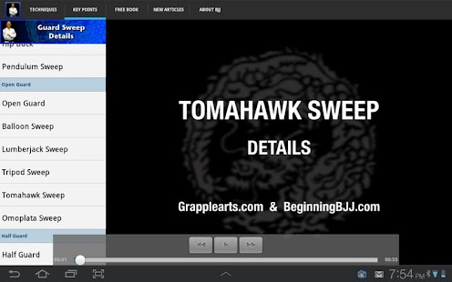 Grapplearts Guard Sweeps- screenshot thumbnail