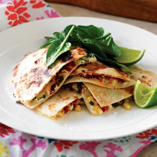 Corn And Goat Cheese Quesadillas.