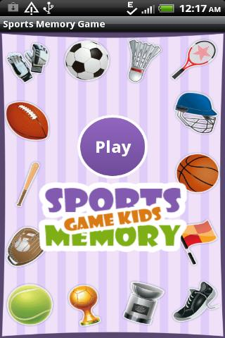 Sports Memory Game for Kids