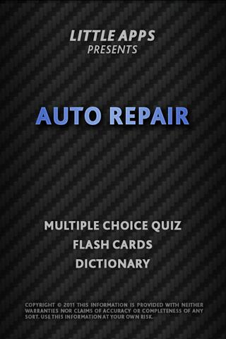 AUTO REPAIR MECHANIC TECH Quiz- screenshot