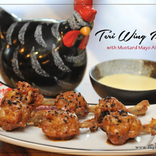 Teri Wing Pops with Mustard Mayo Aioli.