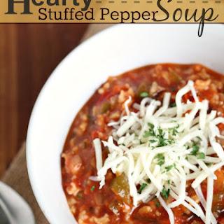 Hearty Stuffed Pepper Soup.