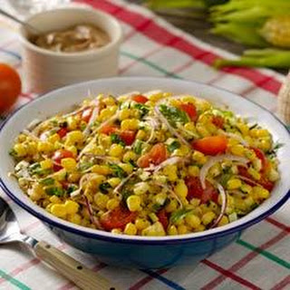 Fresh Summer Corn Salad with Creamy Italian Vinaigrette.