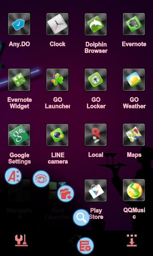 Club Next Launcher 3D Theme