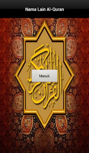Nama Lain Al-Quran