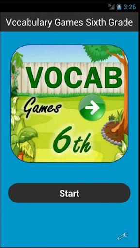 Vocabulary Games Sixth Grade