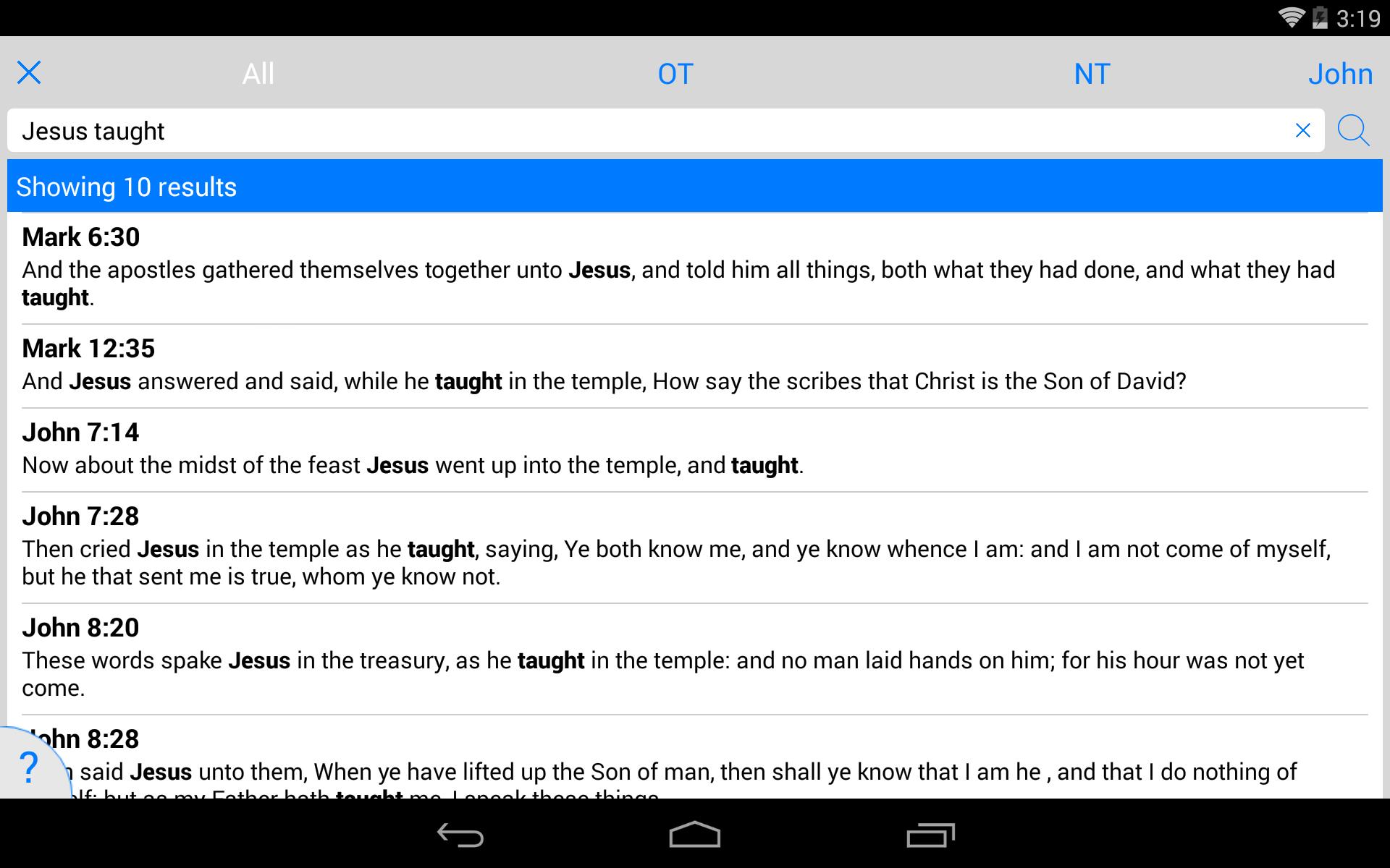 NLT Bible screenshot #24