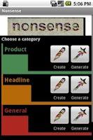 Screenshot of Nonsense