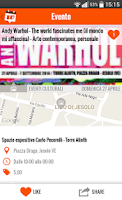 Screenshot of Where's Up? - Events in Italy