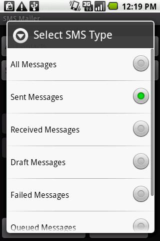 SMS Email Free Version - screenshot
