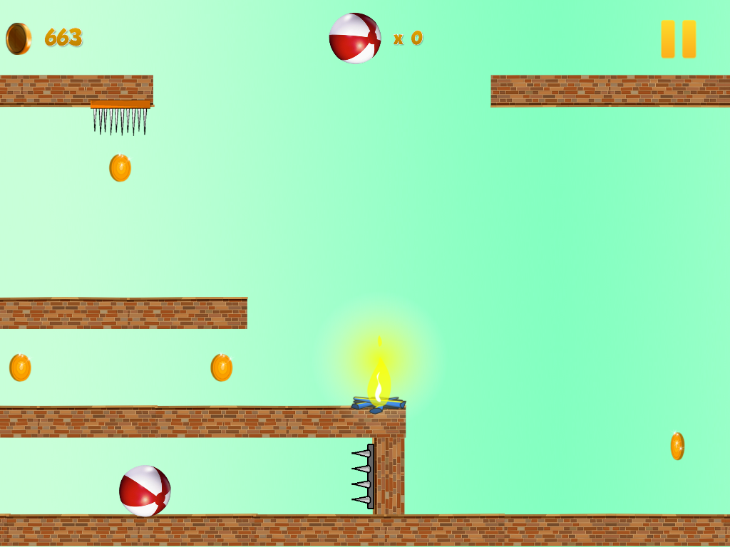 Crazy Red Bouncy Ball Spikes- screenshot