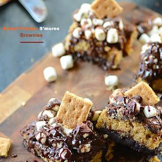 Sweet Potato-Smores Brownies.