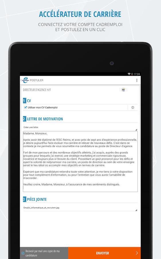 Cadremploi: offre emploi cadre - screenshot