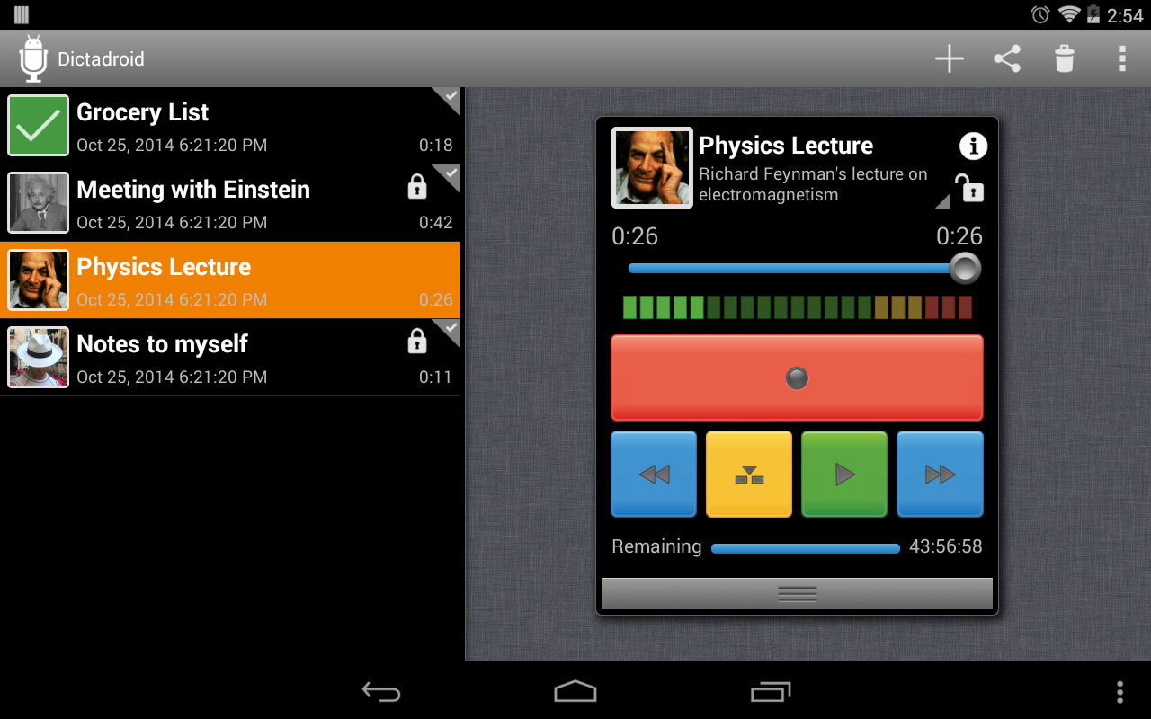 Dictadroid Voice Recorder - screenshot