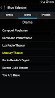 Screenshot of Old Time Radio Player