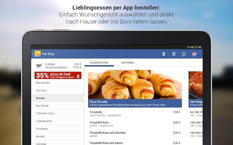 android pizza.de - Essen bestellen Screenshot 2