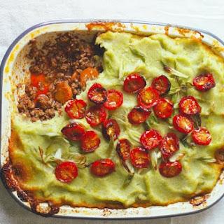 Cottage Pie With Leek And Cauliflower Mash.