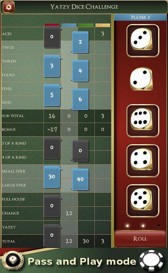 Yatzy Dice Challenge - screenshot